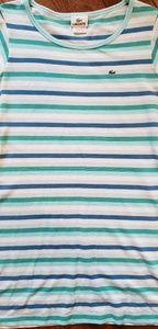 Lacoste tee dress 36/S pique stripe